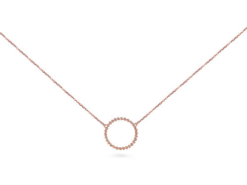 Rose Gold Medium Circle Necklace