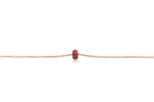 La Roue de Bonheur Orange Sapphire Rose Gold Bracelet