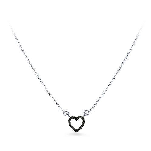 Black Diamond Baby Heart Necklace