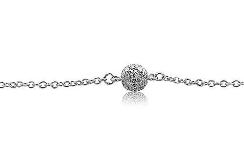Mini Disco Ball Diamond White Gold Bracelet