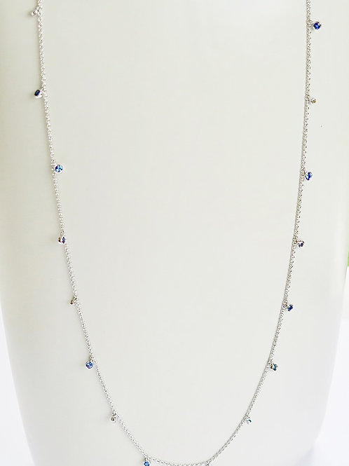Babylon Diamond and Blue Sapphires Necklace