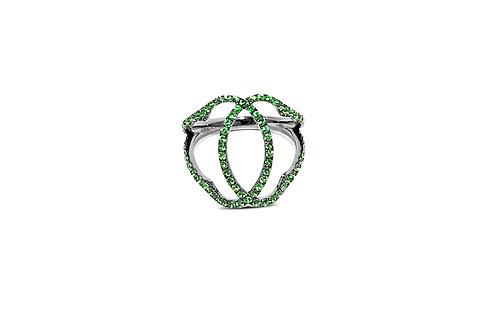 Marrakesh Tsavorite Silver Ring