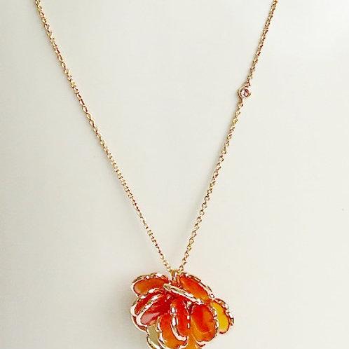 Camelia Orange Agate Necklace