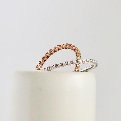Skinny Stackable Plain Rose Gold Ring
