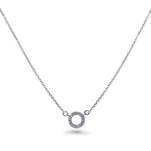 Baby Circle White Gold Necklace