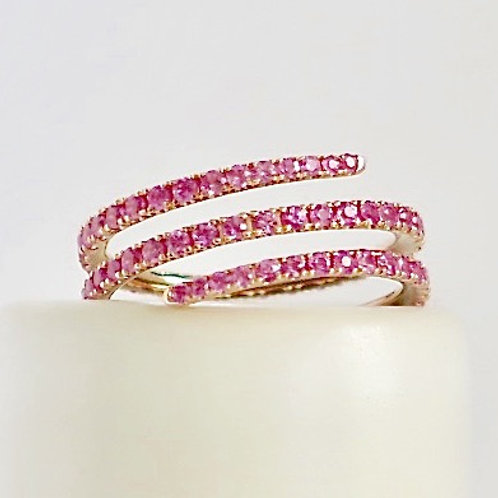Pink Sapphire Mila Ring