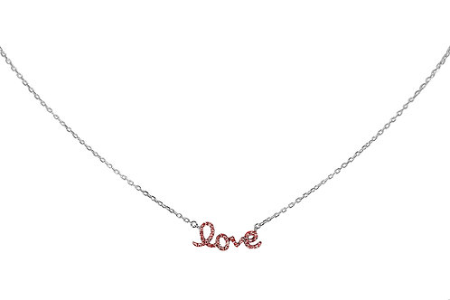 Baby Love Ruby White Gold necklace