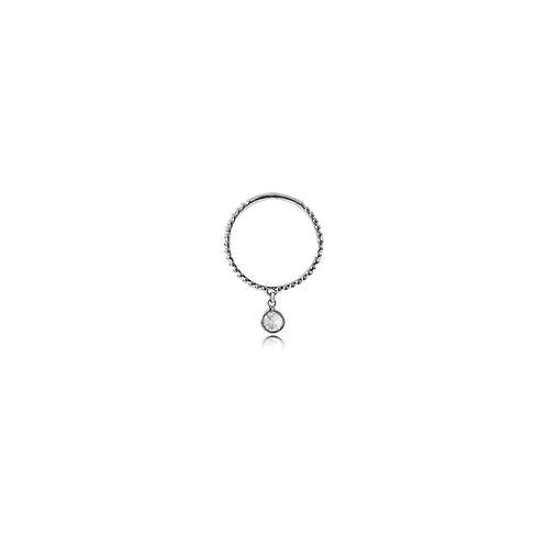 Babylon Rose-Cut Diamond White Gold Ring