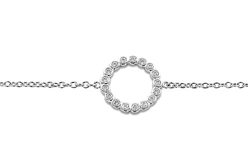 Circle Diamond White GoldBracelet