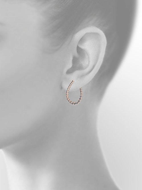 Joli Diamond Ear Studs Rose Gold