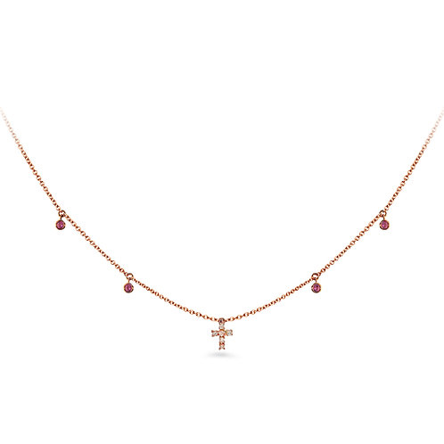 Rose Gold Baby Cross Necklace