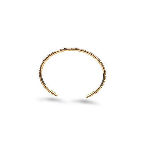XOXO Rose Gold Diamond Cuff