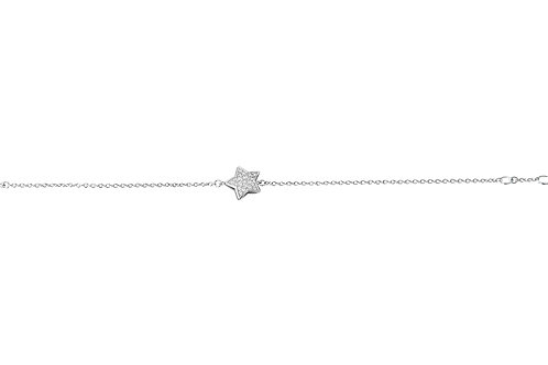 Happy Star Diamond White Gold Bracelet