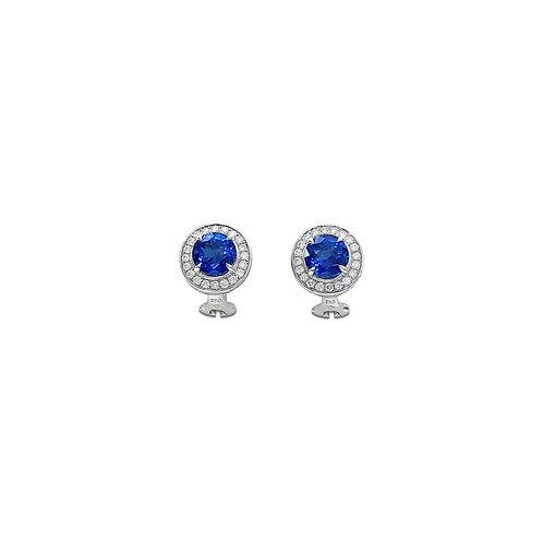 Tanzanite Diamond Ear Studs