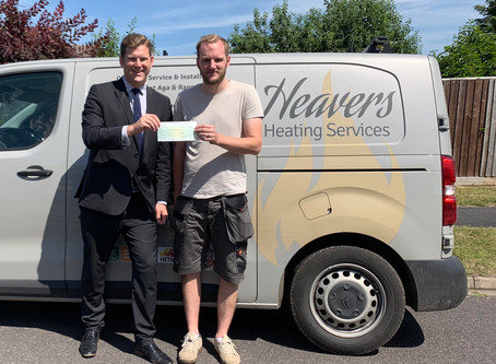 Heaver's Heating Receives Business Incentive Grant