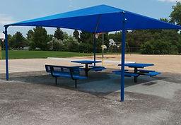 Fabric Shade shelter at school