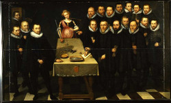 Muntmeesters en waardijns (Samuel van Hoogstraten, 1657)