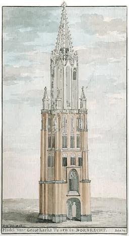 Model voor de bouw van de Grote Kerk