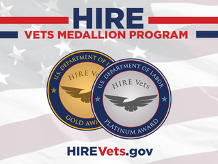 Senspex Awarded 2019 Gold HIRE Vets Medallion Award