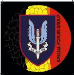 Sticker Special Forces Group Belgium