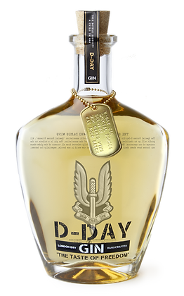Giftbox D-Day Gold Edition Gin - Special Forces Group Belgium Label