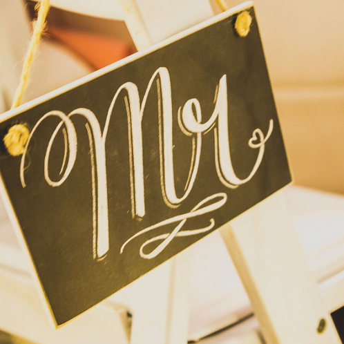 Mr. & Mrs. Hanging Signs