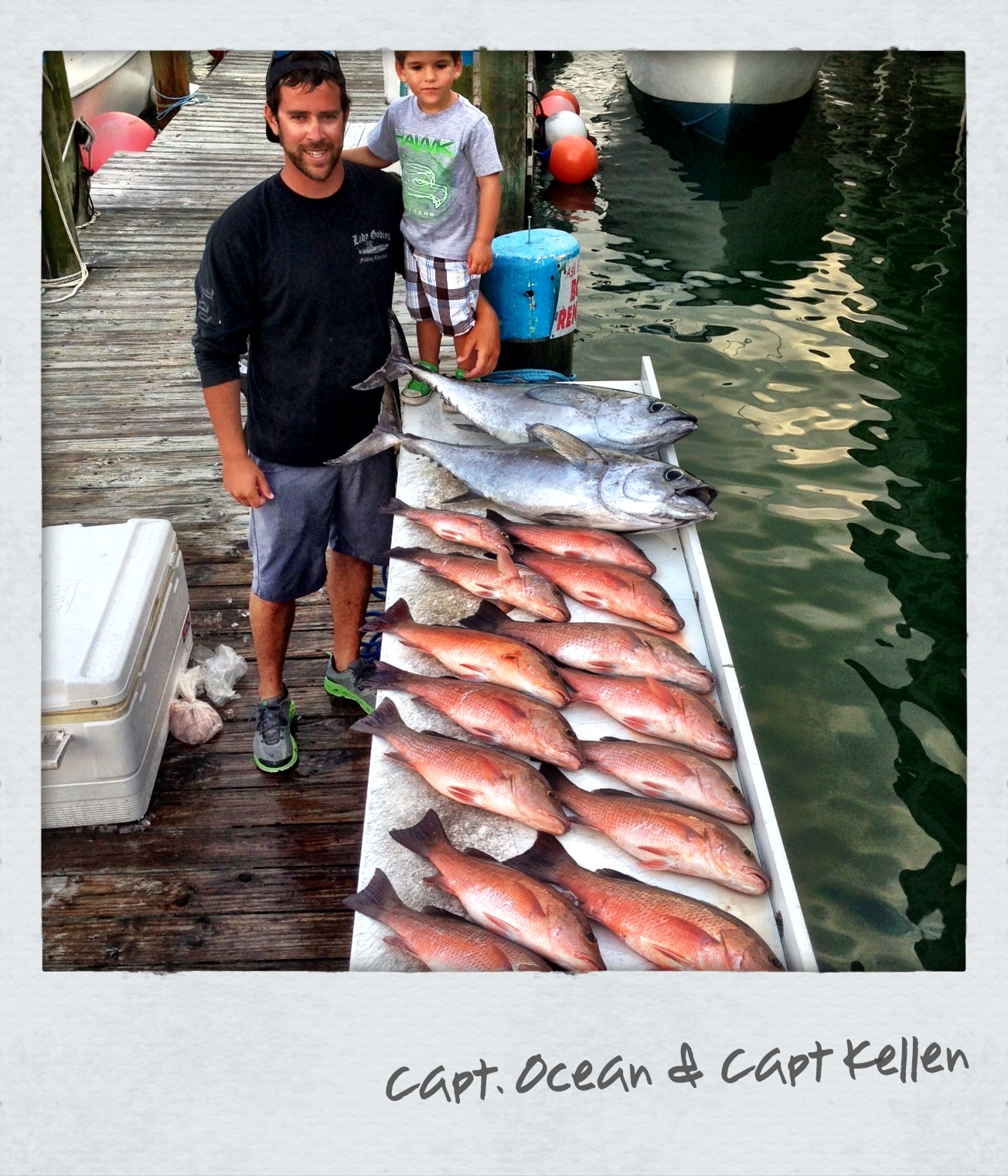 Big Snapper and Tuna fishing charter