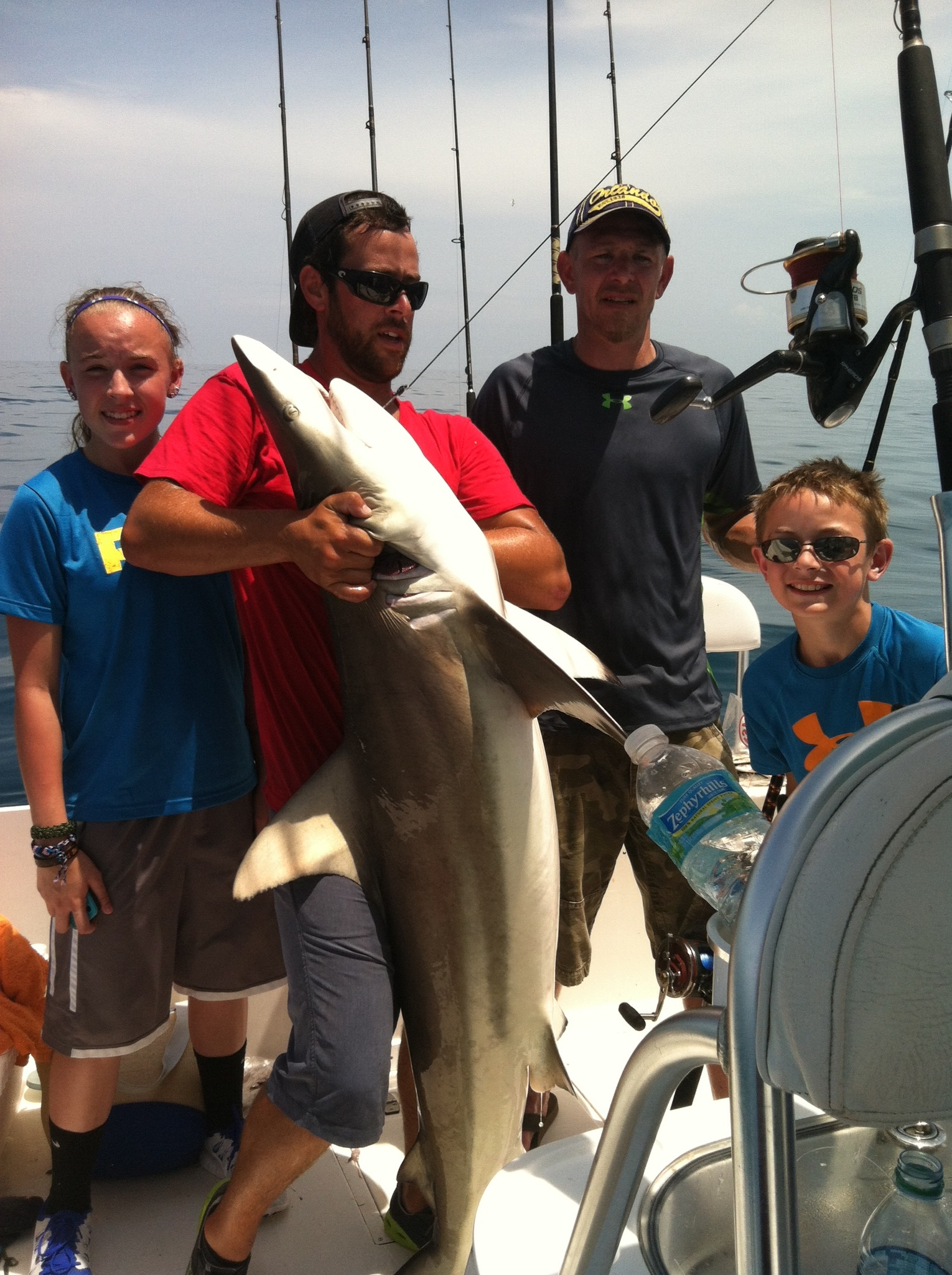 Shark fishing with Fishprocharters