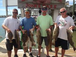 Johns Pass grouper, flounder fishing