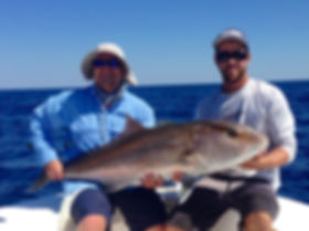 Large Amberjack caught deep sea fishing with fishprocharters.com