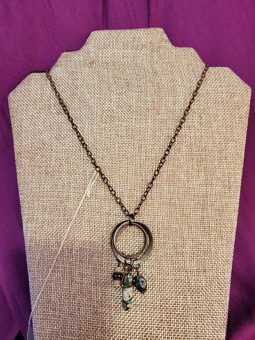 Antiqued Copper Pendant Necklace