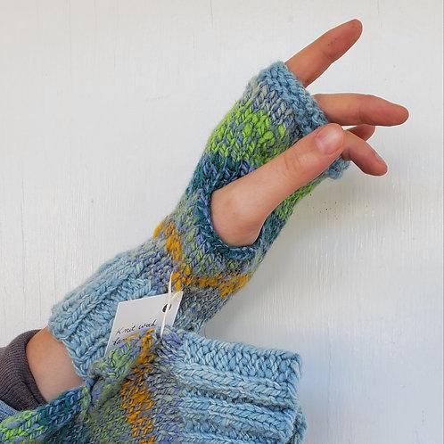 Multi color fingerless glove