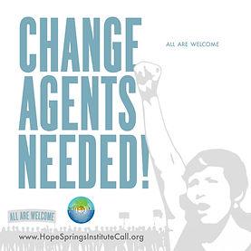 Change Agents Needed!