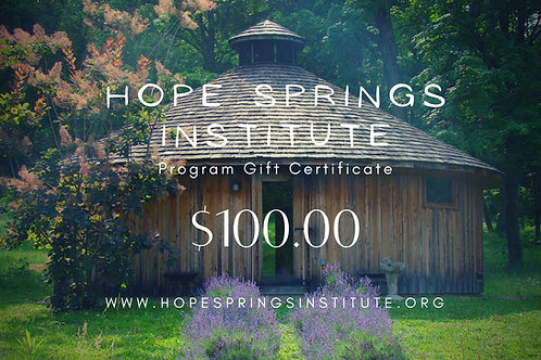 Hope Springs Institute Gift Certificate
