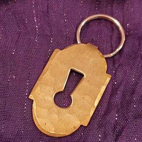 handcrafted  brass keychain