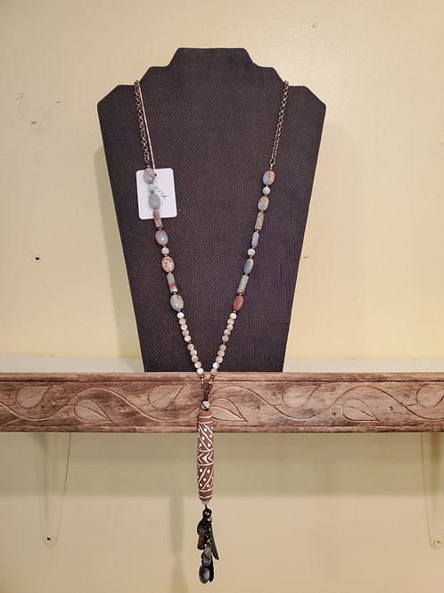 "29"" hand strung beaded necklace"