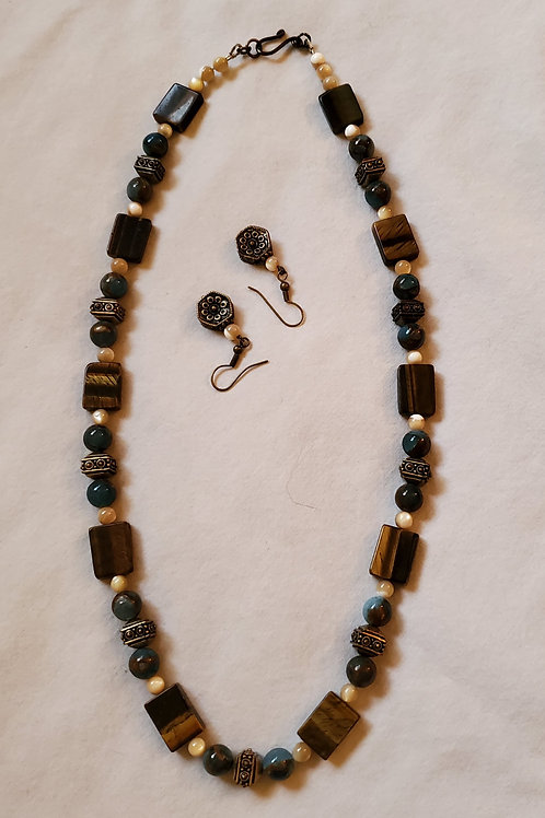 hand strung beaded necklace