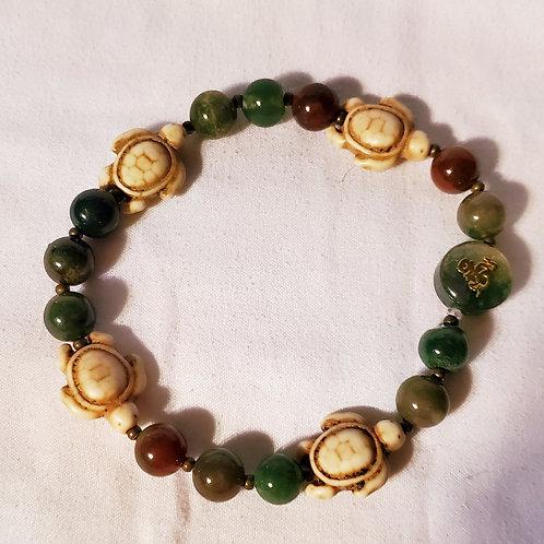 """elastic beaded bracelet 7 1/2"""""""
