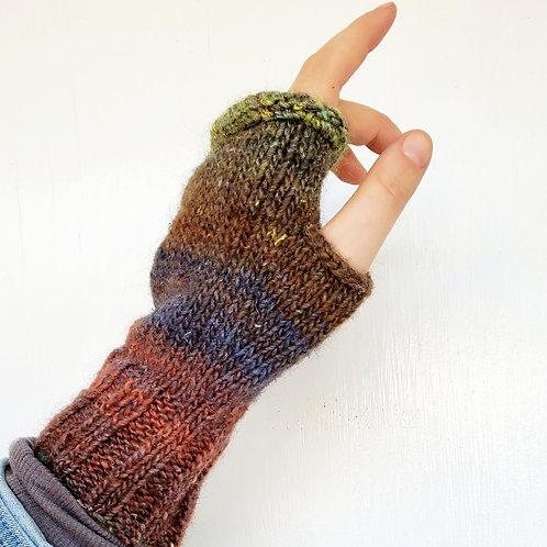 Handknitted fingerless gloves