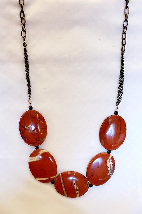 red stripe jasper necklace