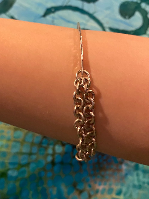 Sterling Silver Chain Bangle