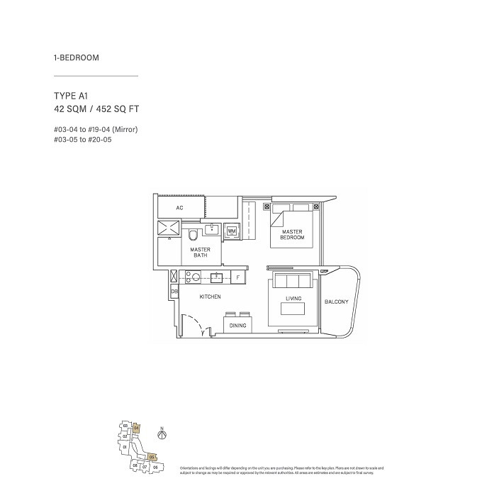 1 Bedroom Type A1