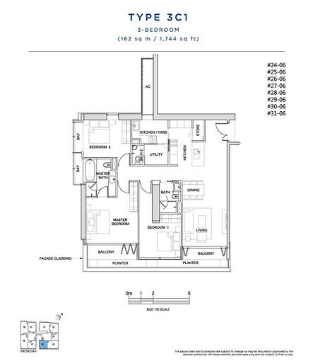 3 Bedroom Type 3C1