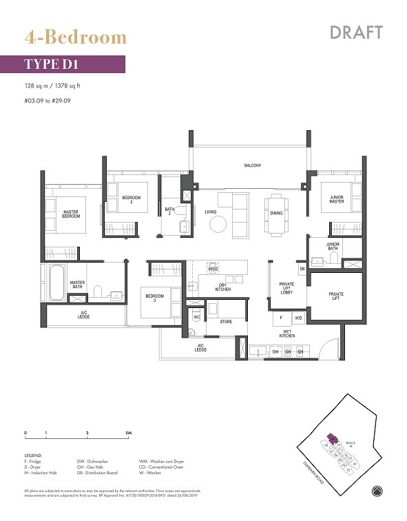 Pullman Residences Newton 4 Bedroom