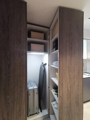 The M condo - Hidden Storage Space