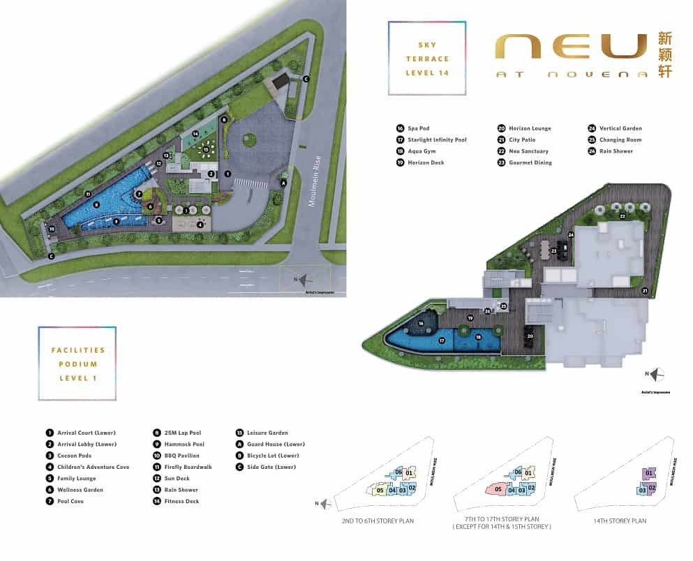 Neu at Novena site plan