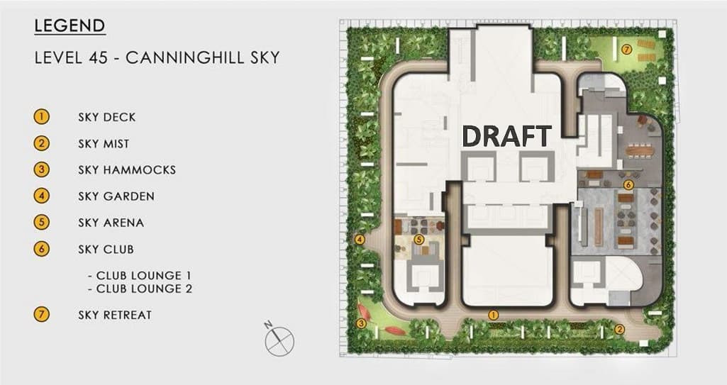 Canninghill Piers Site Plan Level 45