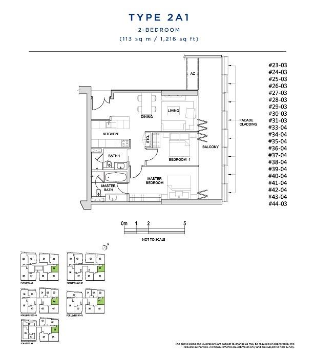 2 Bedroom Type 2A1