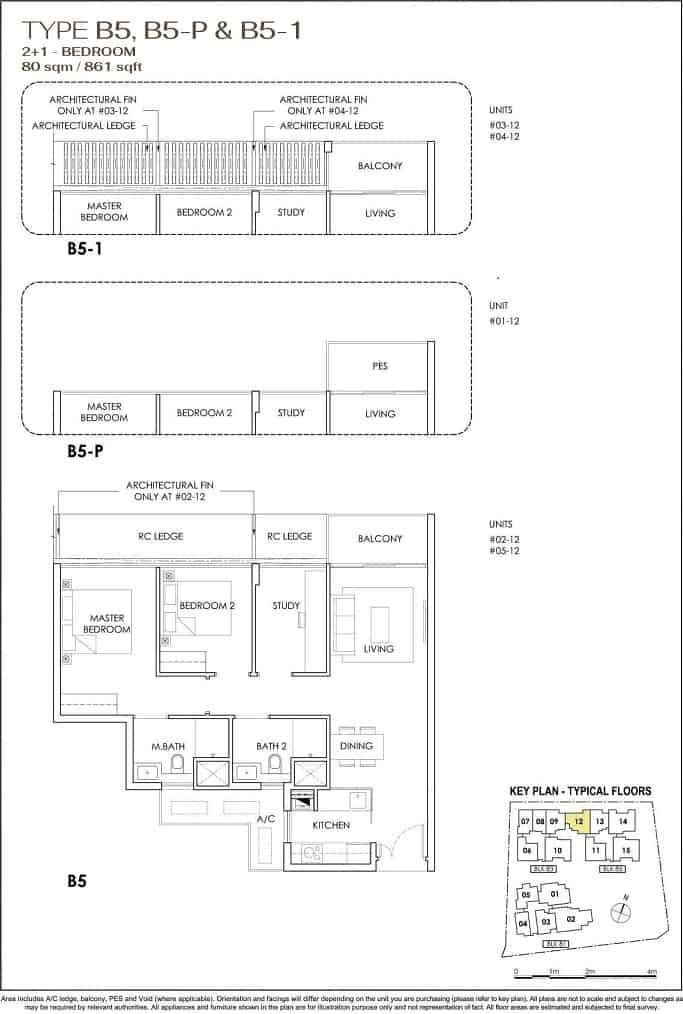 Phoenix Residences 2-Bedroom with Study.