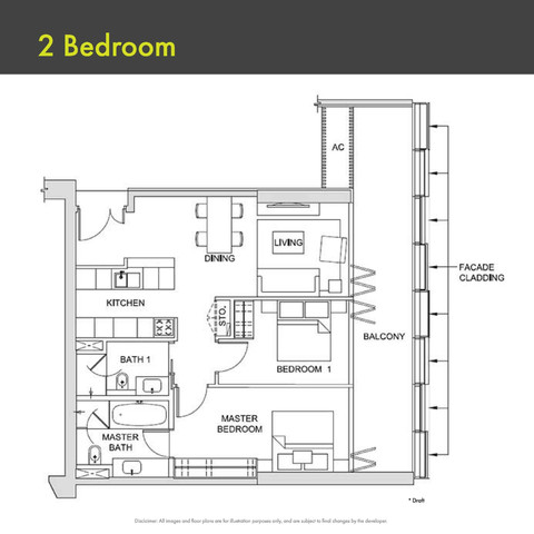 Canninghill Piers - 2-Bedroom